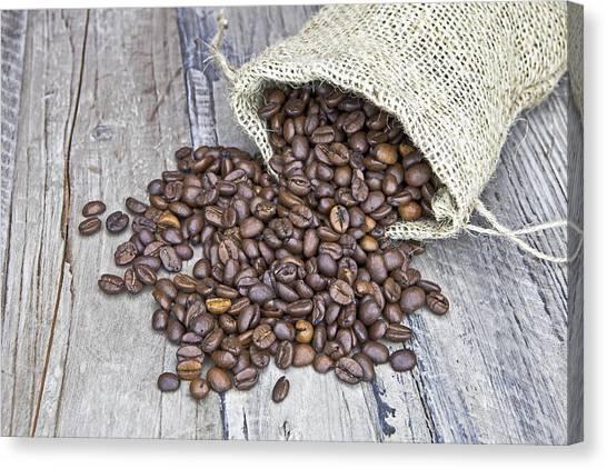 Coffee Beans Canvas Print - Coffee Beans by Joana Kruse