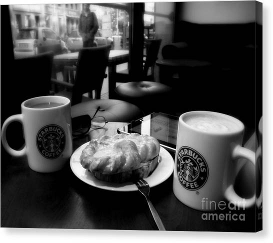 Coffee In Berlin  2 Canvas Print by Tanya  Searcy