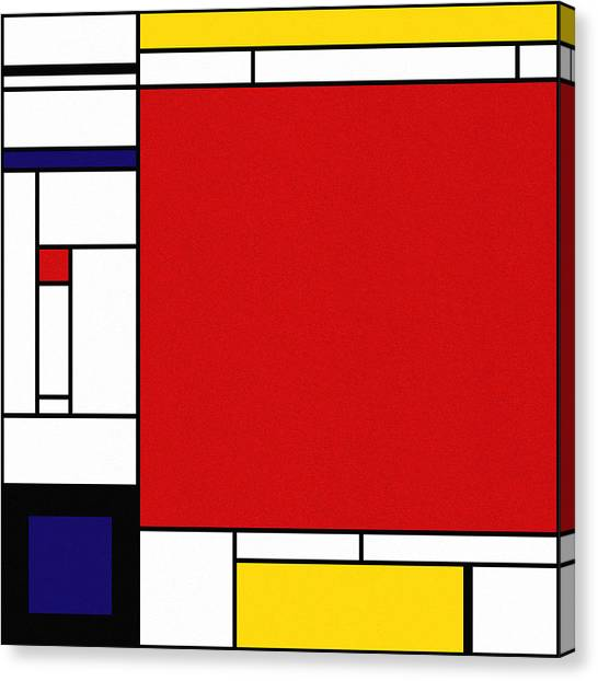 De Stijl Canvas Print - Cognition 2 by Richard Rizzo