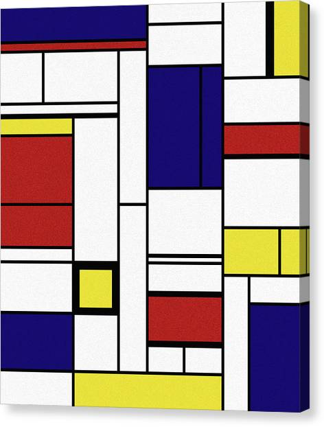 De Stijl Canvas Print - Cognition  by Richard Rizzo