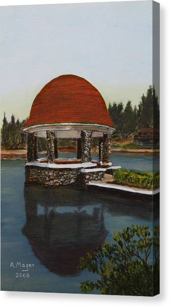 Cogshall Bandstand Canvas Print