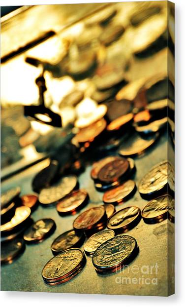 Currency Canvas Print - Coins by HD Connelly