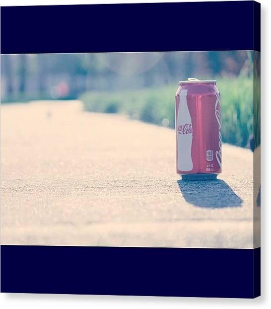 Soda Canvas Print - #coke #cocacola #cola #drink #instagood by Anthony Sclafani