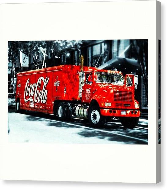 Trucks Canvas Print - Coke Truck In Nyc by Ale Romiti 🇮🇹📷👣