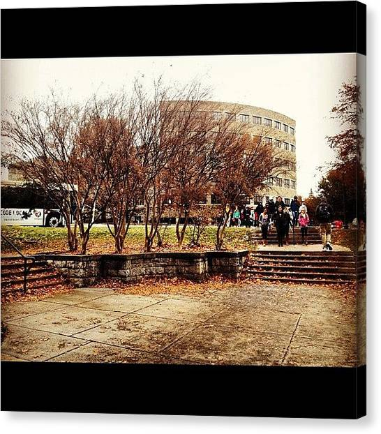 Hurricanes Canvas Print - Cold And Windy Day! #virginiatech #vt by Phoebe Hannah