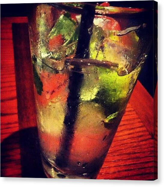 Liquids Canvas Print - Cold Glass Of Mojito by Camera Hacker