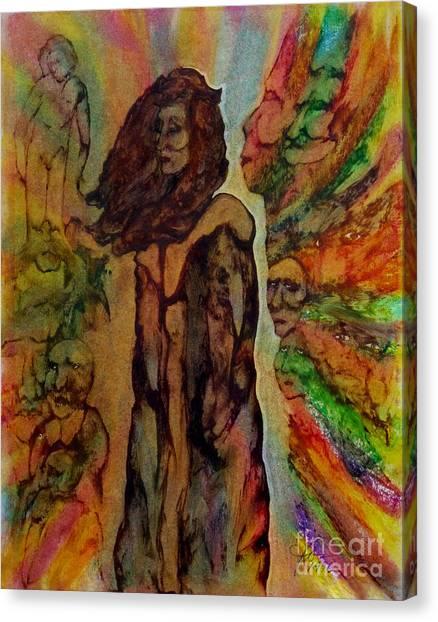 Cold Shoulder Canvas Print by Linda May Jones