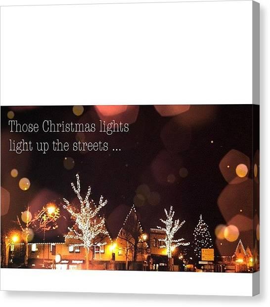 Storks Canvas Print - Coldplay – Christmas Lights 🎧 by Melanie Stork