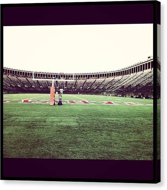 Harvard University Canvas Print - Coliseum #harvard #football by Khamid B