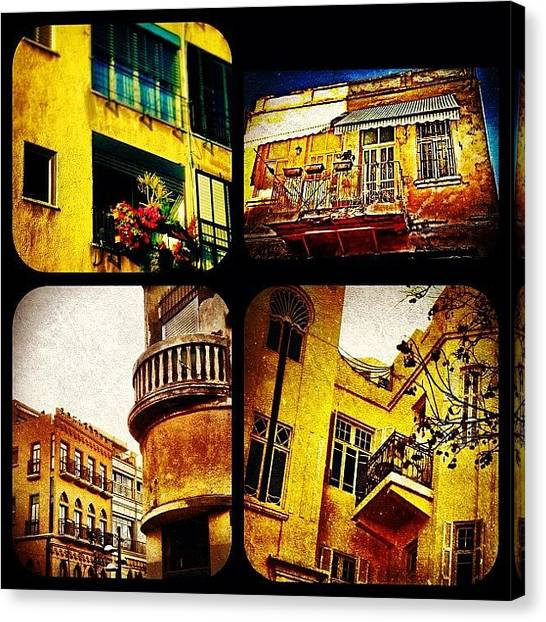 Israeli Canvas Print - Collage Aviv by Kim Cafri