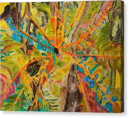 Collage Of Leaves Canvas Print by Meryl Goudey