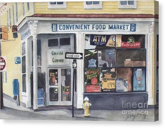 College Corner Original...sold Canvas Print