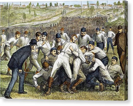 Yale University Canvas Print - College Football Game, 1879 by Granger