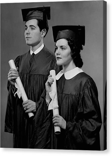 College Graduation Canvas Print by George Marks