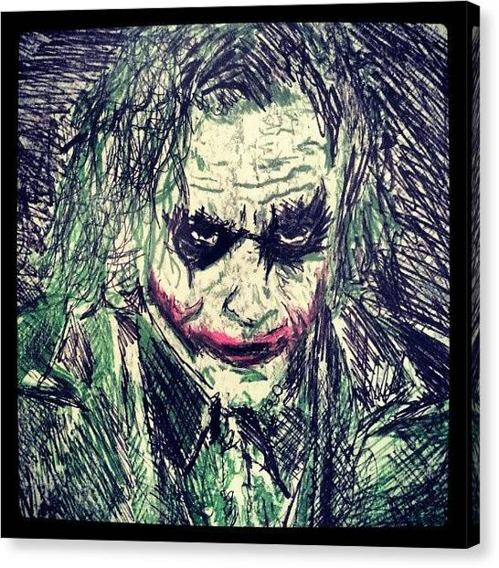 College Canvas Print - College Work 08' #joker #art by Gary West