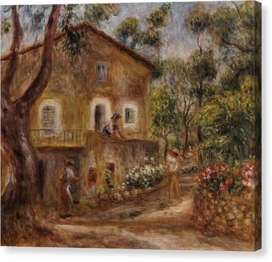 Pierre-auguste Renoir Canvas Print - Collette's House At Cagne by Pierre Auguste Renoir