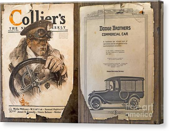 Colliers Cover Both Sides Jan 5 1918 Canvas Print by Roy Foos