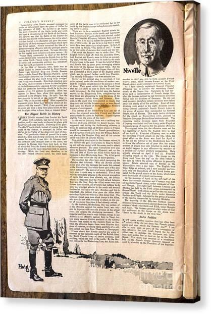 Colliers Jan 5 1918 Pg 6 Canvas Print by Roy Foos