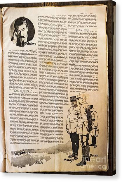Colliers Jan 5 1918 Pg 7 Canvas Print by Roy Foos