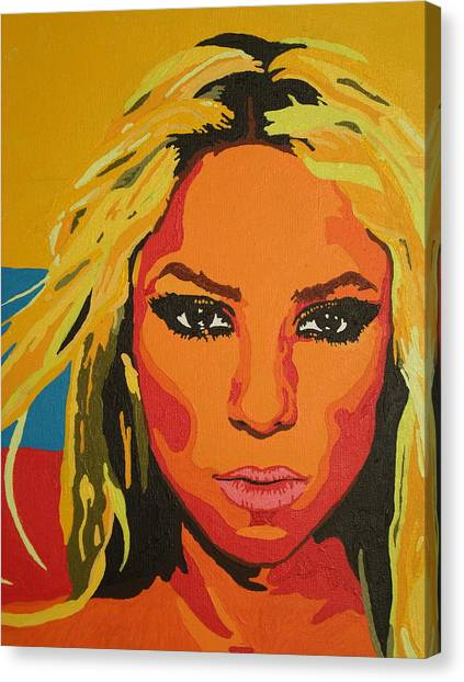 Shakira Canvas Print - Colombiana by Adrienne S