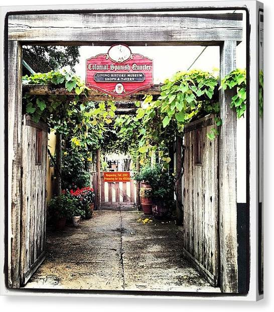 Wet Canvas Print - Colonial Spanish Quarter by Michele Green Williams