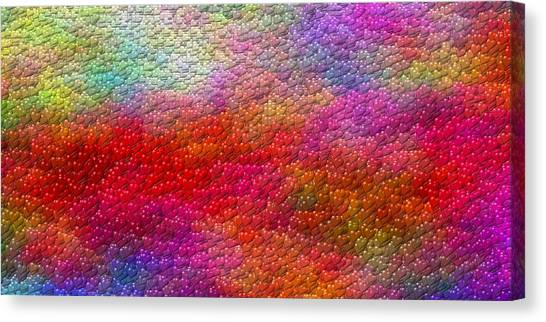 Color Hearts 1c Canvas Print by Magnus Haarberg