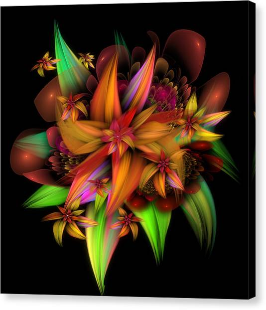Color In Bloom Canvas Print