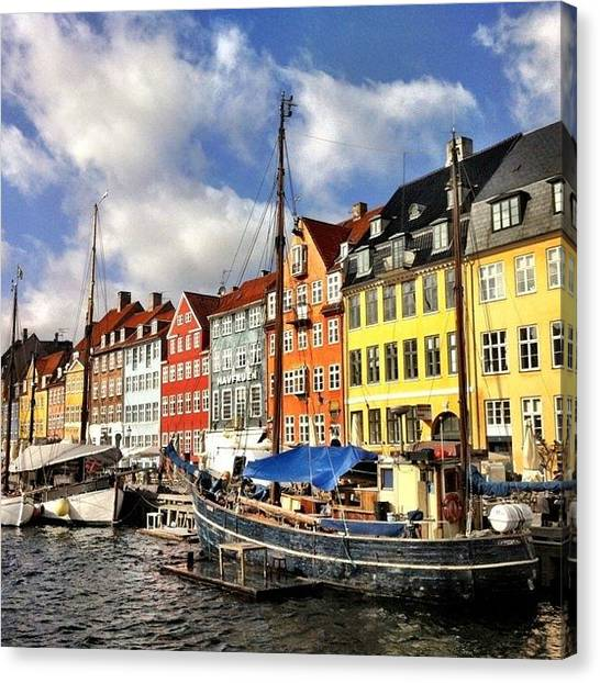 House Canvas Print - Color In Copenhagen by Luke Kingma