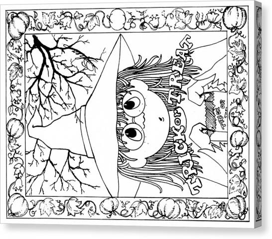 Color Me Card - Halloween Canvas Print