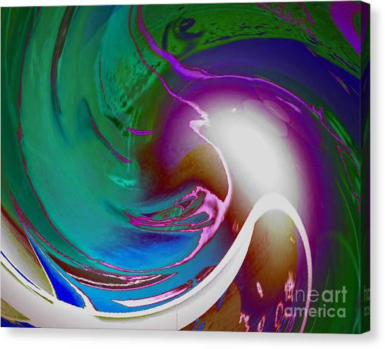 Color Modules Green-blue Canvas Print