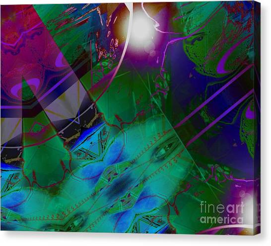 Color Modules Green-blue-lila Canvas Print