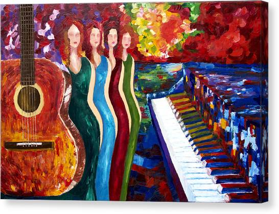 Color Of Music Canvas Print