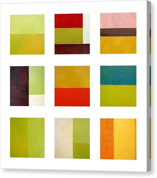 Color Study Abstract Collage Canvas Print
