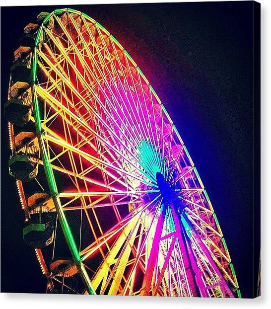 Foxes Canvas Print - Color Wheel. #ferriswheel #boardwalk by Rachel Fox Burson