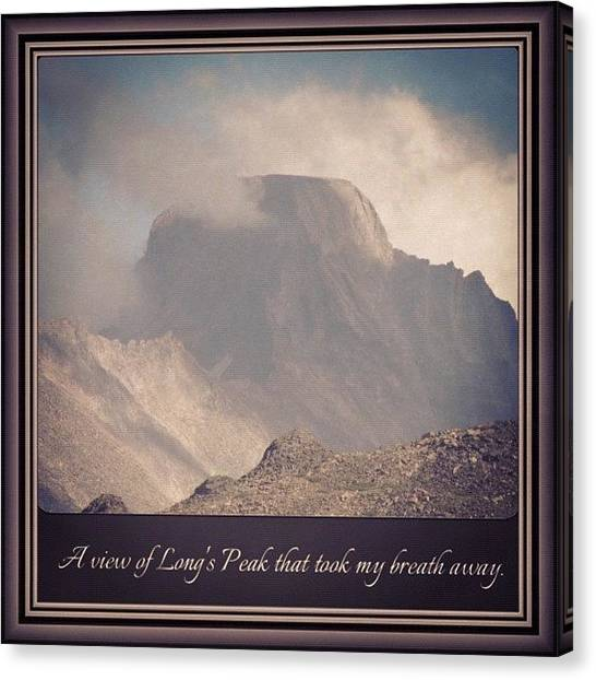 Rocky Mountains Canvas Print - #colorado #14ers #coloradical #camping by James Sibert
