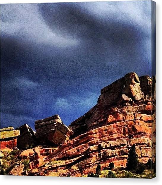Thunderstorms Canvas Print - #colorado #redrocks #denver by Eva Martinez