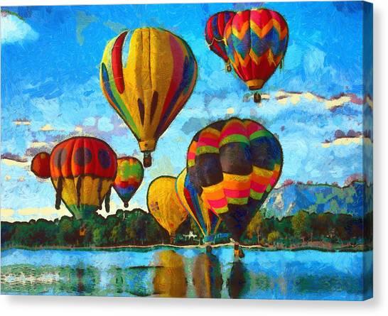Hot Air Balloons Canvas Print - Colorado Springs Hot Air Balloons by Nikki Marie Smith