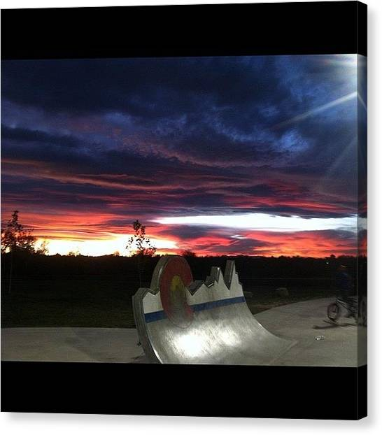 Pugs Canvas Print - Colorado Sunset #sunset #colorado by Tyler Phillips
