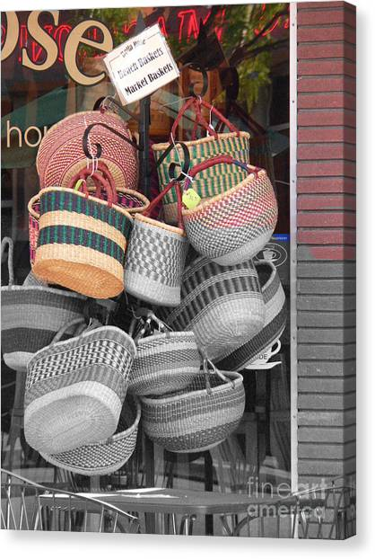 Colored Baskets Canvas Print by David Bearden