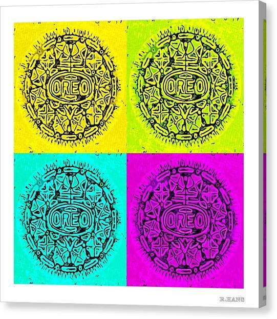 Nabisco Canvas Print - Colored Oreos by Rob Hans