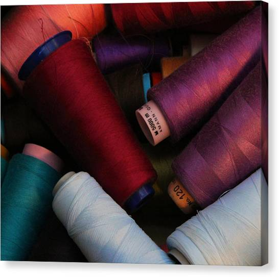 Colored Thread Canvas Print by Odd Jeppesen
