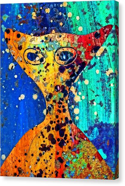 E.t Canvas Print - Colorful Alien by Carol Leigh