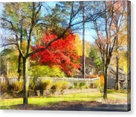 Colorful Autumn Street Canvas Print by Susan Savad