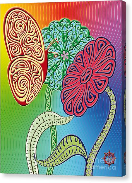 Colorful Butterfly Canvas Print by Santi Goma Rodriguez