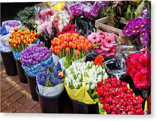 Colorful Flower Market Canvas Print