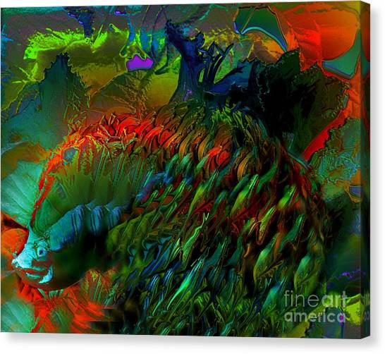 Colorful Hedgehog Canvas Print by Doris Wood