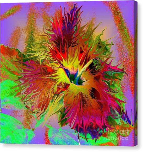 Colorful Hibiscus Canvas Print by Doris Wood