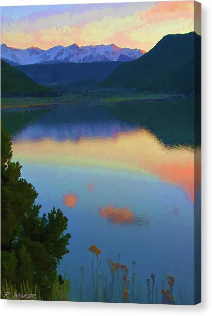 Colorful Lake Sunset Canvas Print
