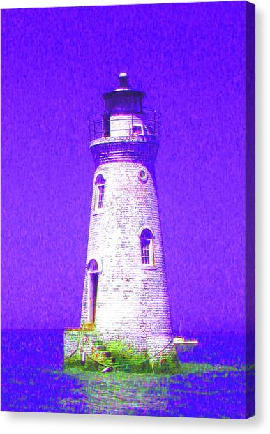 Colorful Lighthouse Canvas Print by Juliana  Blessington