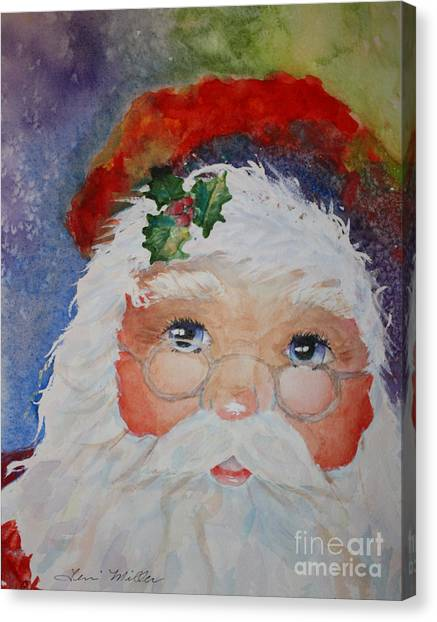 Colorful Santa Canvas Print by Terri Maddin-Miller